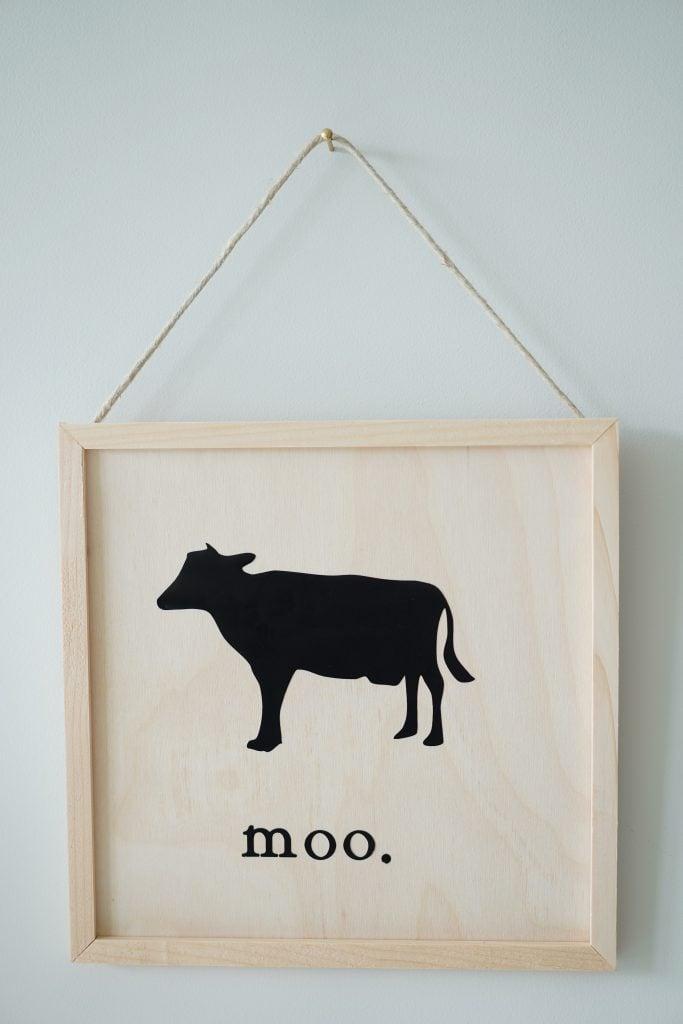 cow farmhouse sign