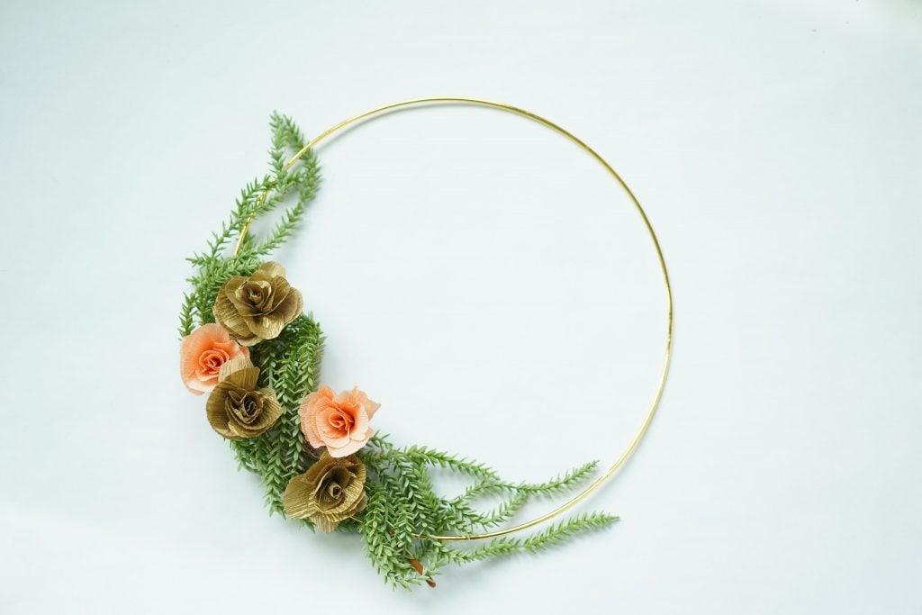 DIy bridesmaid wreath
