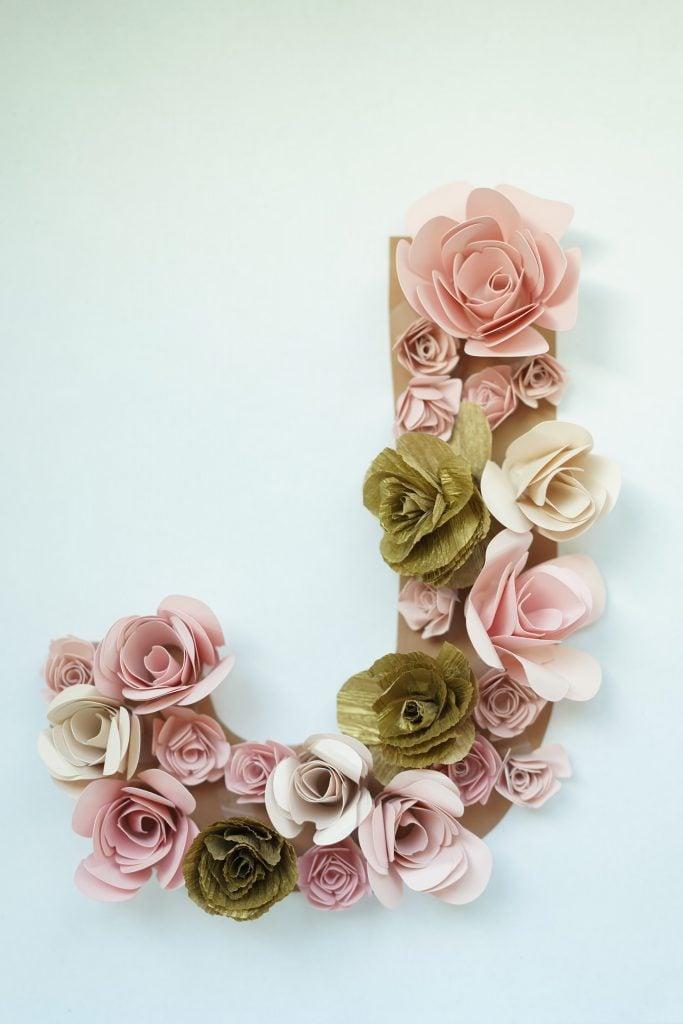 floral letter diy