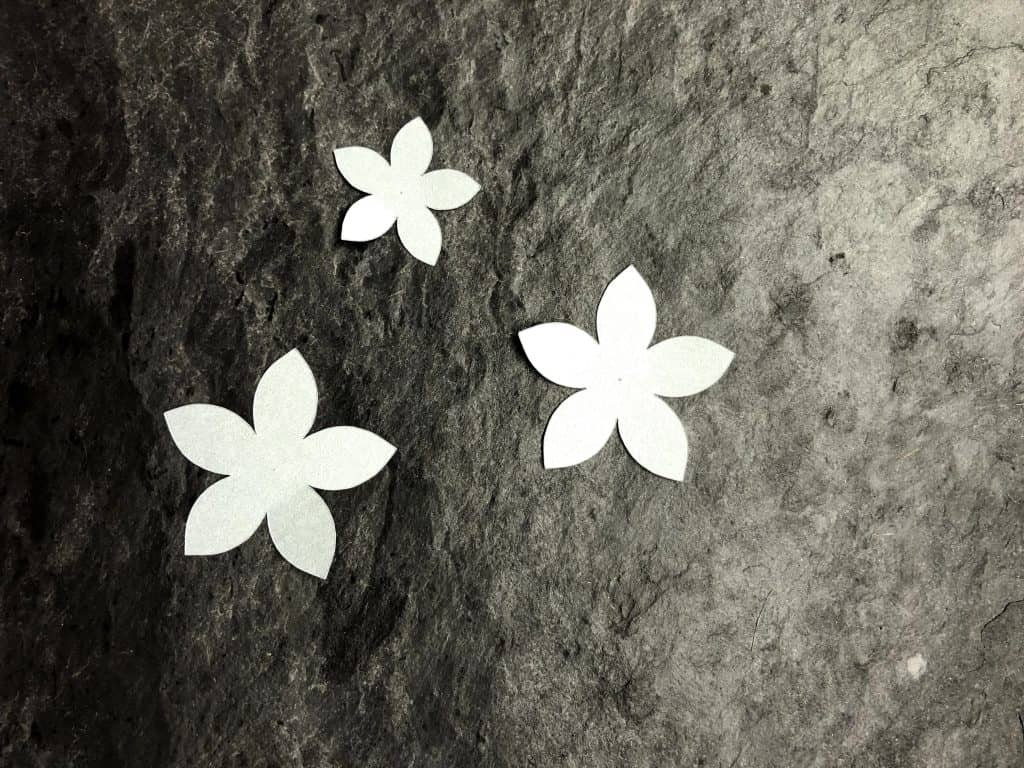 simple paper flower template