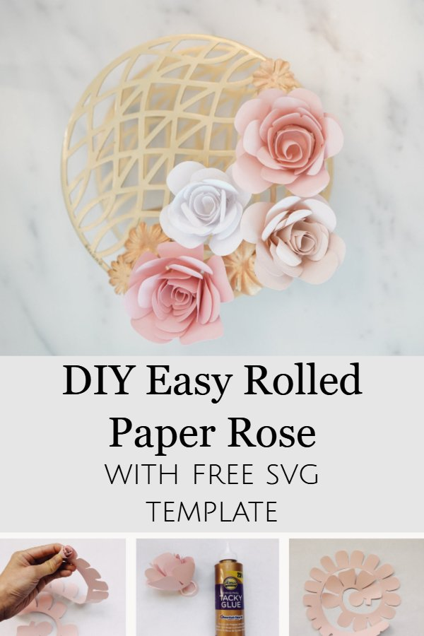free small rose paper flower template