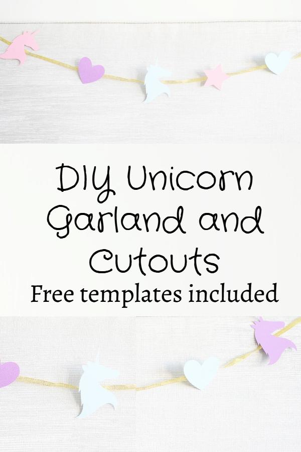 Unicorn garland DIY