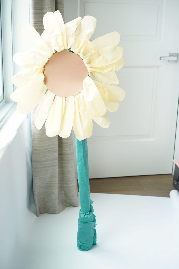 DIY giant standing flower