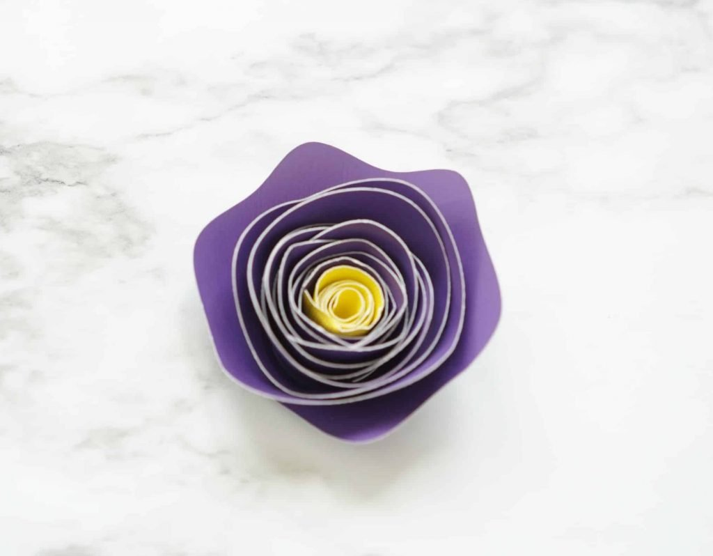 Two toned rolled paper flower