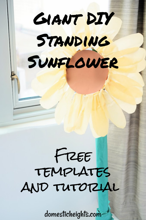 DIY giant standing sunflower flower