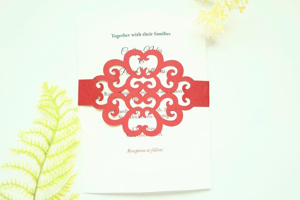 free circut wedding invitation template
