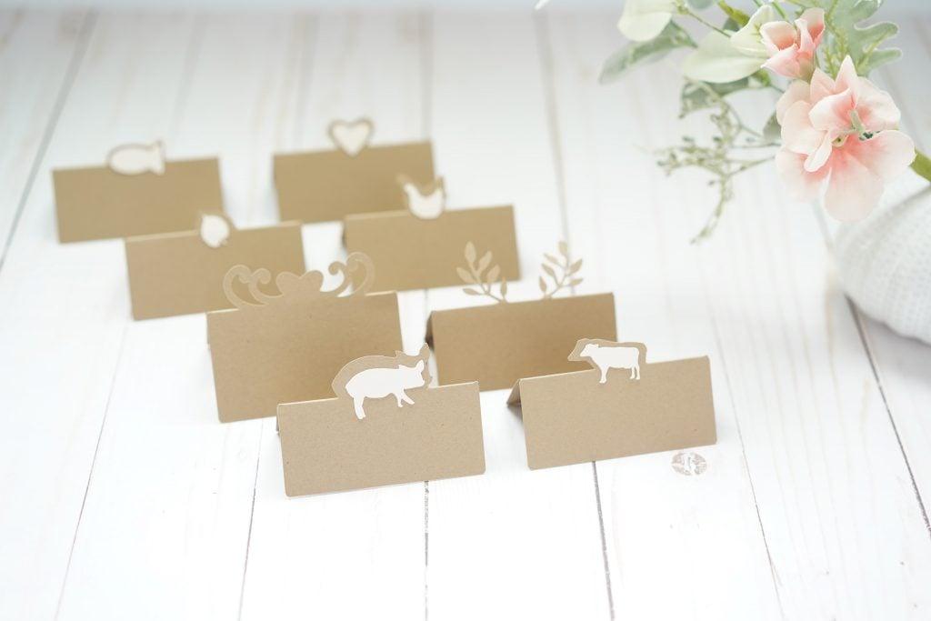 cricut seating cards