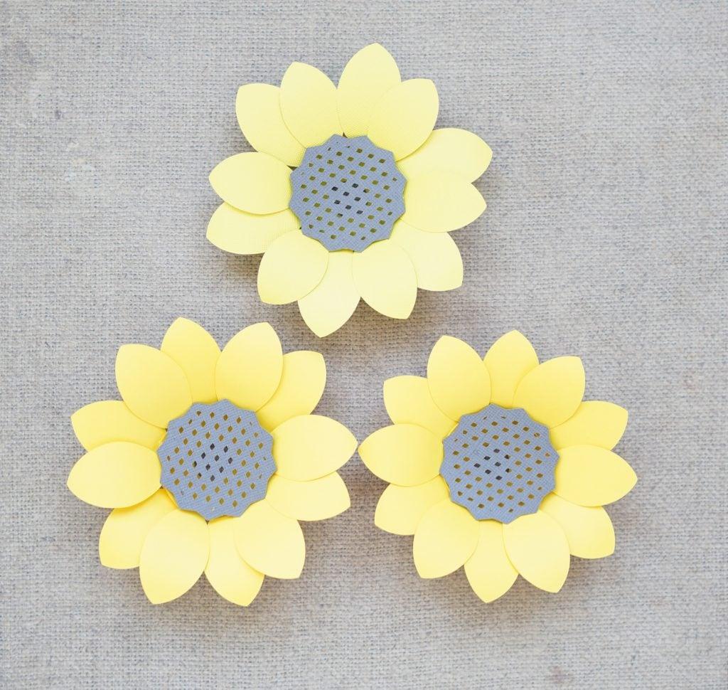 free paper sunflower