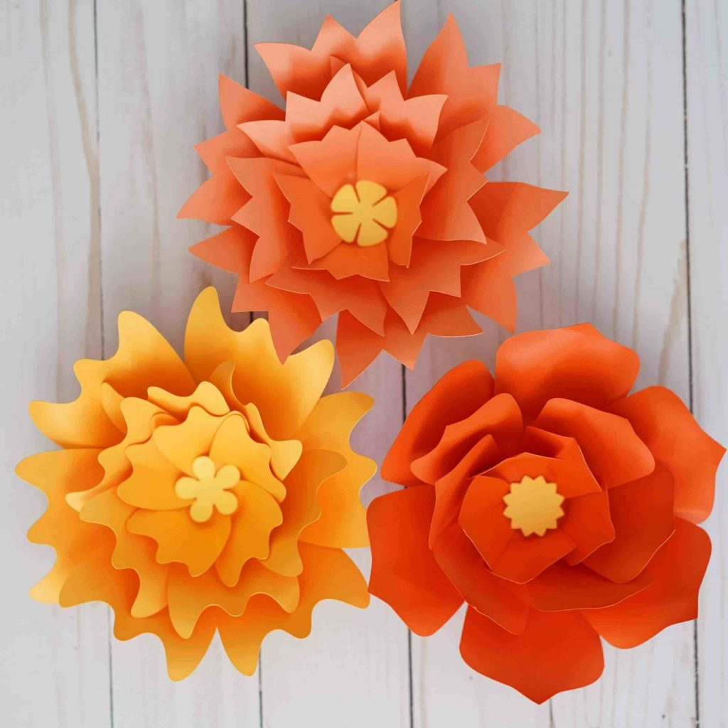 how to make giant paper flowers with cricut large paper flowers template