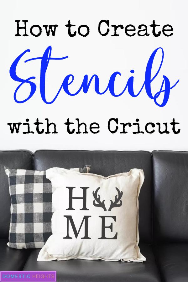 make a stencil with cricut