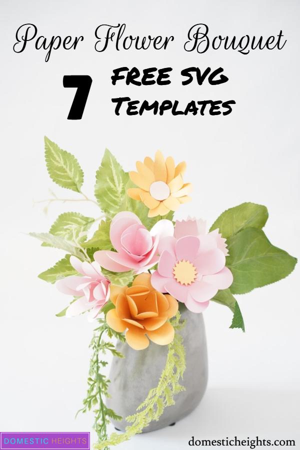7 free paper bouquet flower svg templates
