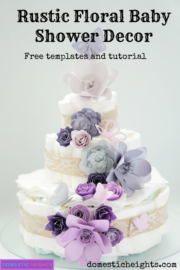 rustic floral babyshower for girls decor ideas with free templates