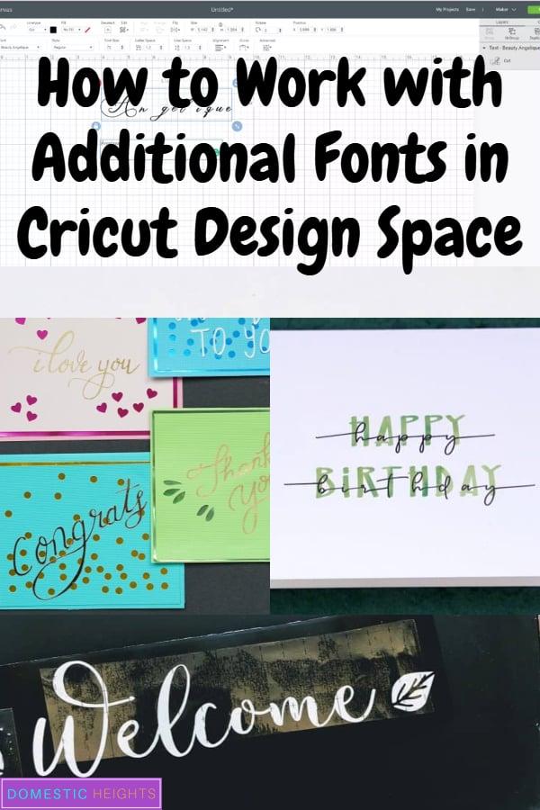 writing fonts for cricut