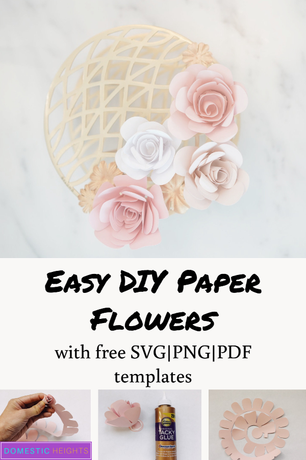 diy paper rolled rose svg template
