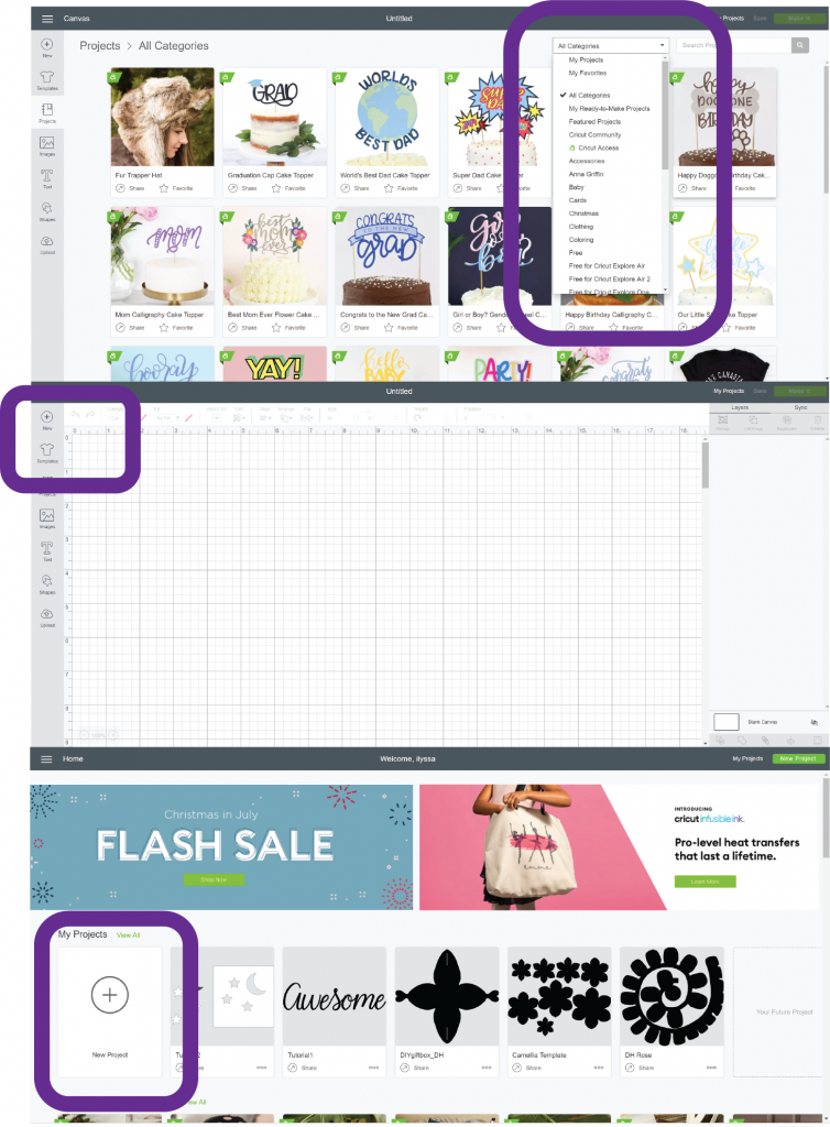 how to open and edit projects in cricut design