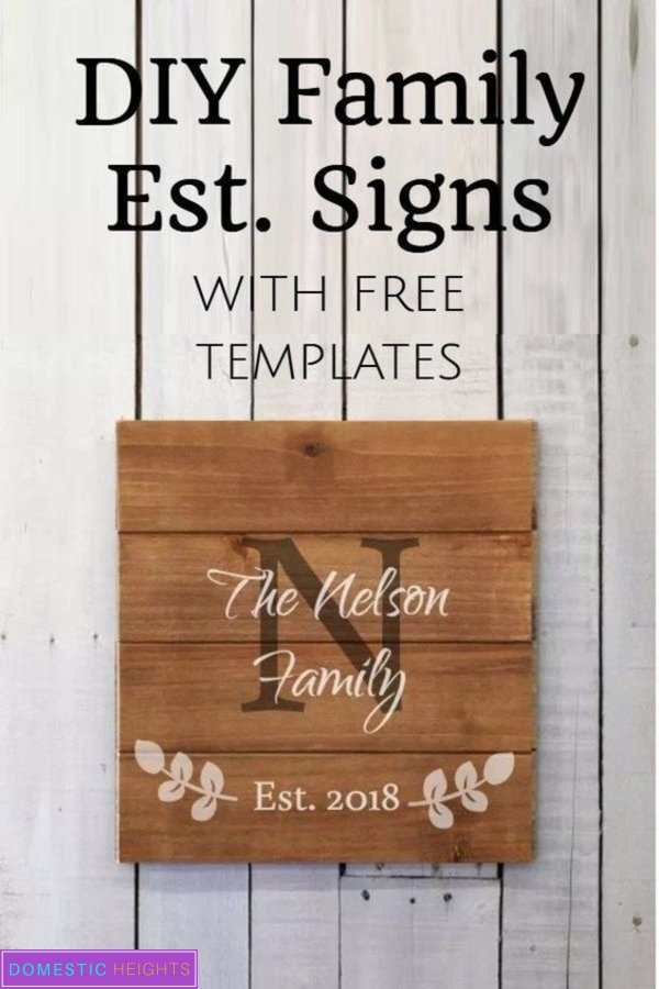 diy family name sign