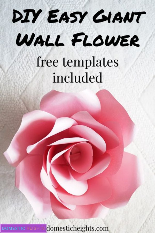 giant rose wall flower template and tutorial