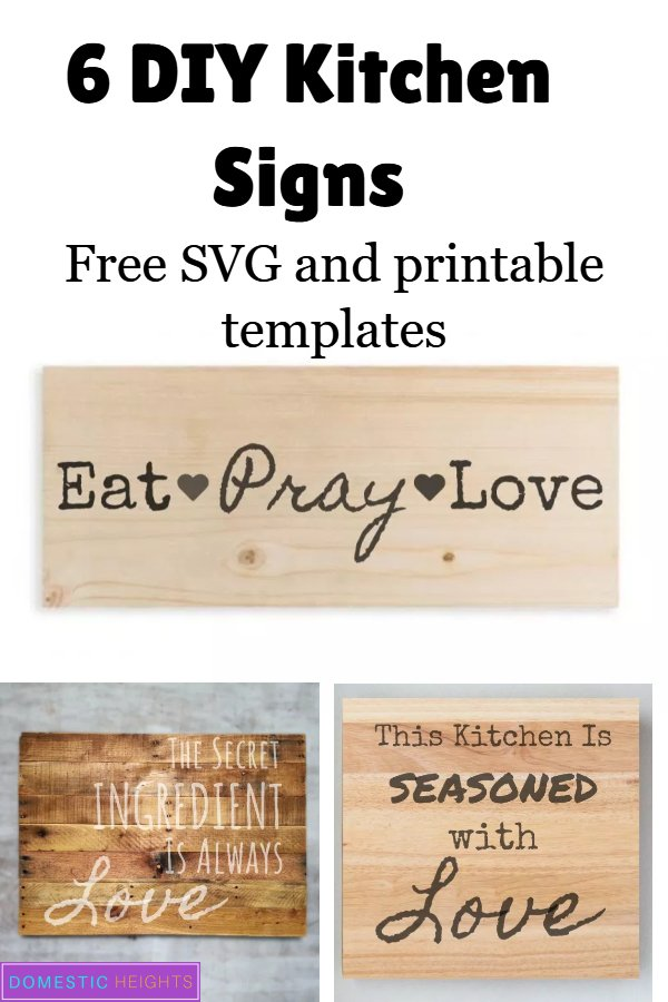diy kitchen signs with free svg
