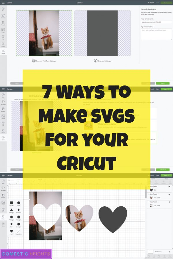 cricut beginners tutorial, make free svg, how to make photo cut outs