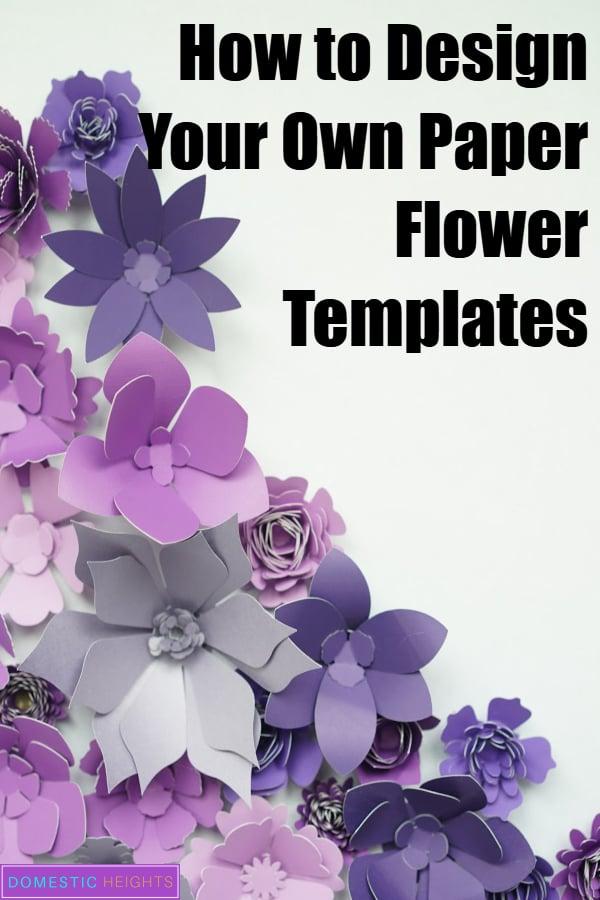 diy paper flower template, cricut design space tutorial, free svg template