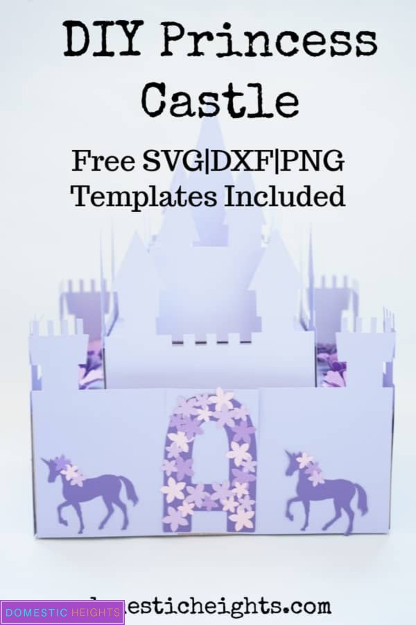 princess unicorn castle decor craft project with free printable and cut files templates