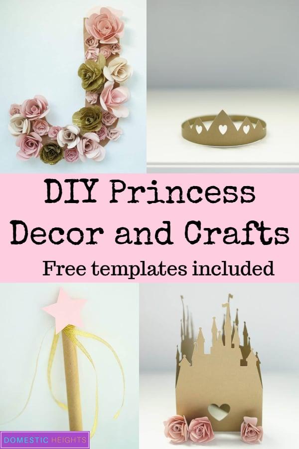 diy princess party and craft ideas