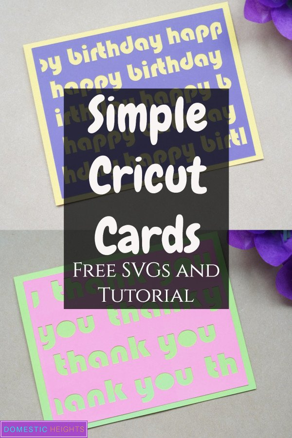 cricut card svg cut file template and tutorial, great beginners project