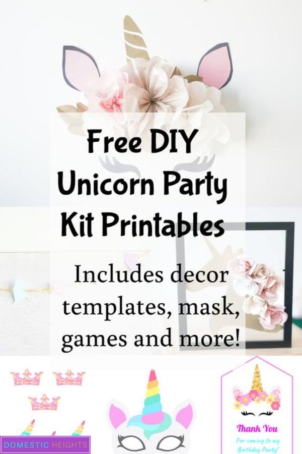 free unicorn birthday party printables and ideas