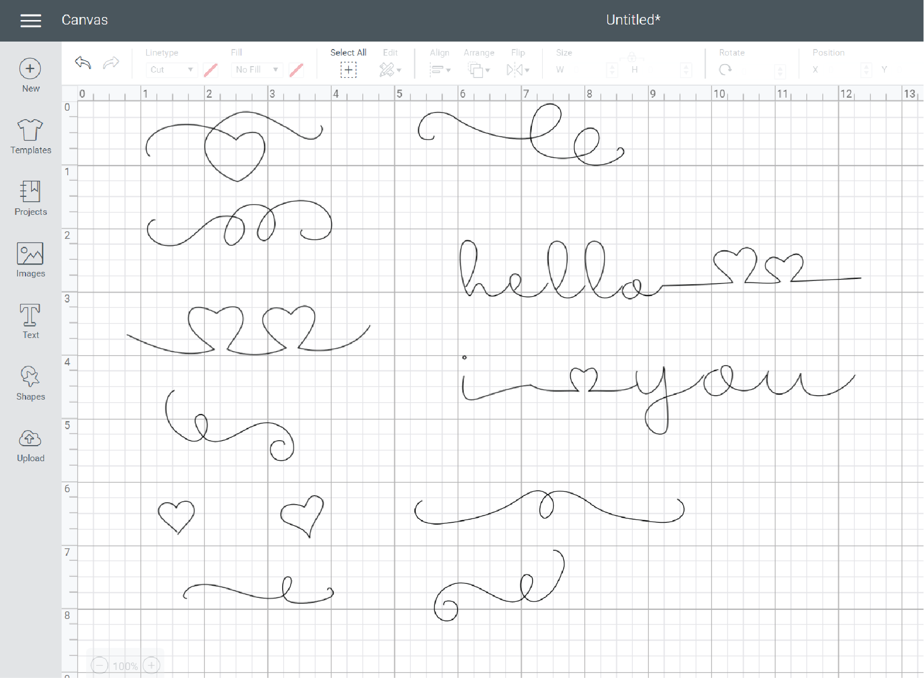 free single path SVG flourishes for writing with cricut
