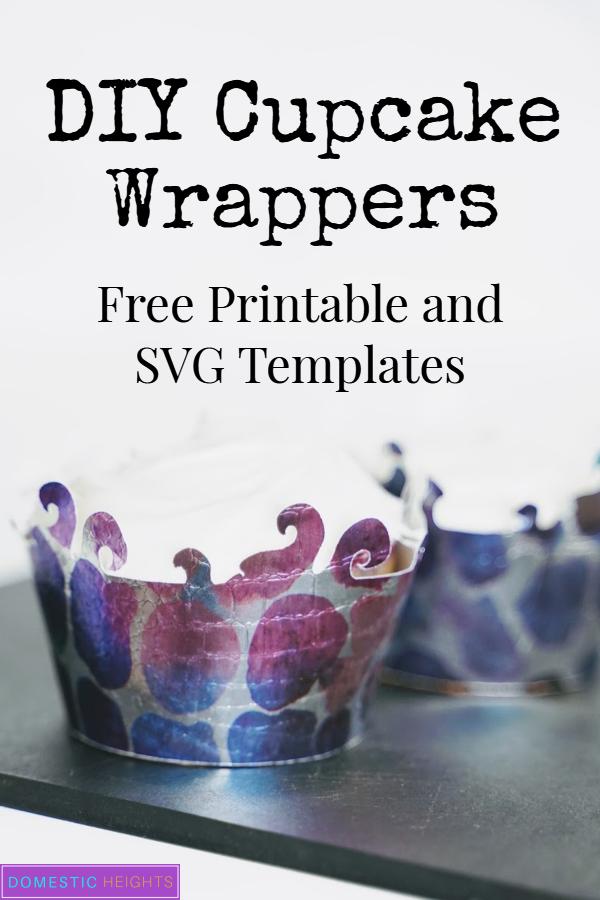 DIY cupcake wrapper template