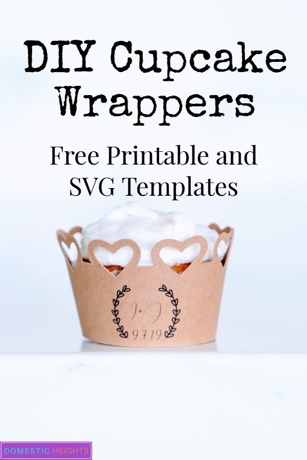 DIY cricut wedding ideas, DIY cupcake wrapper template