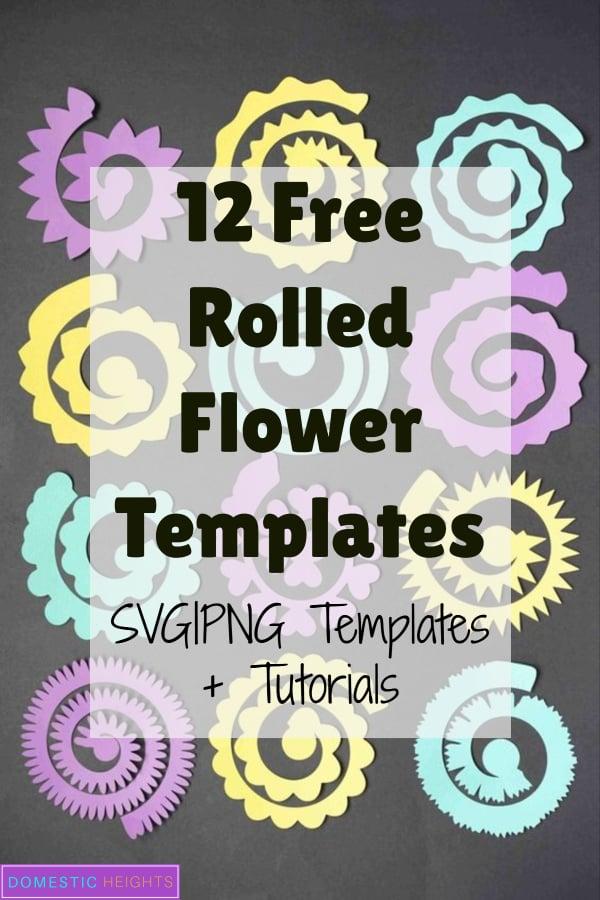 Cricut flower template free