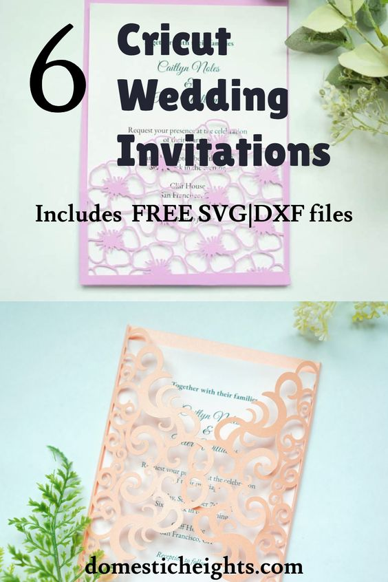 free cricut wedding invitation svg