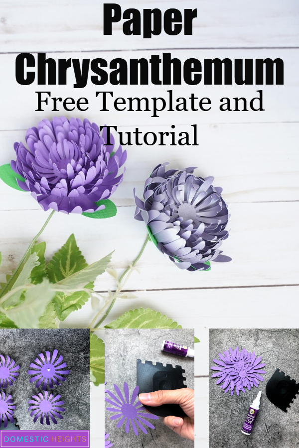 paper chrysanthemum flower template
