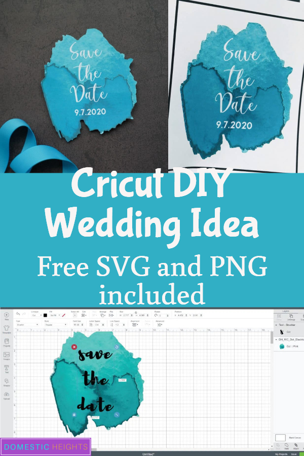 DIY wedding cricut project idea