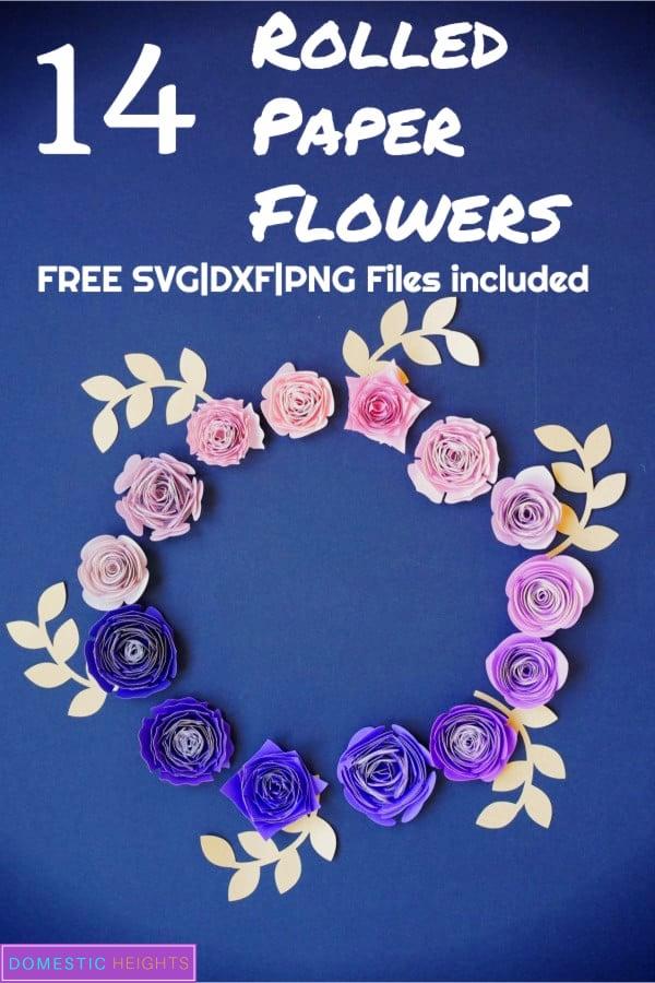 free rolled paper flower svg,