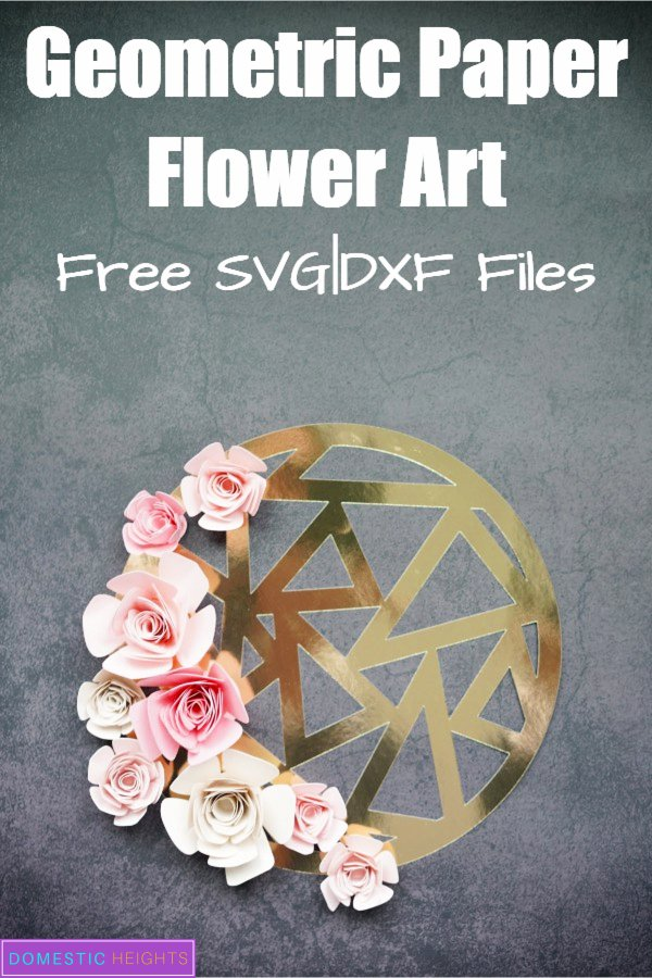 free rose paper flower template