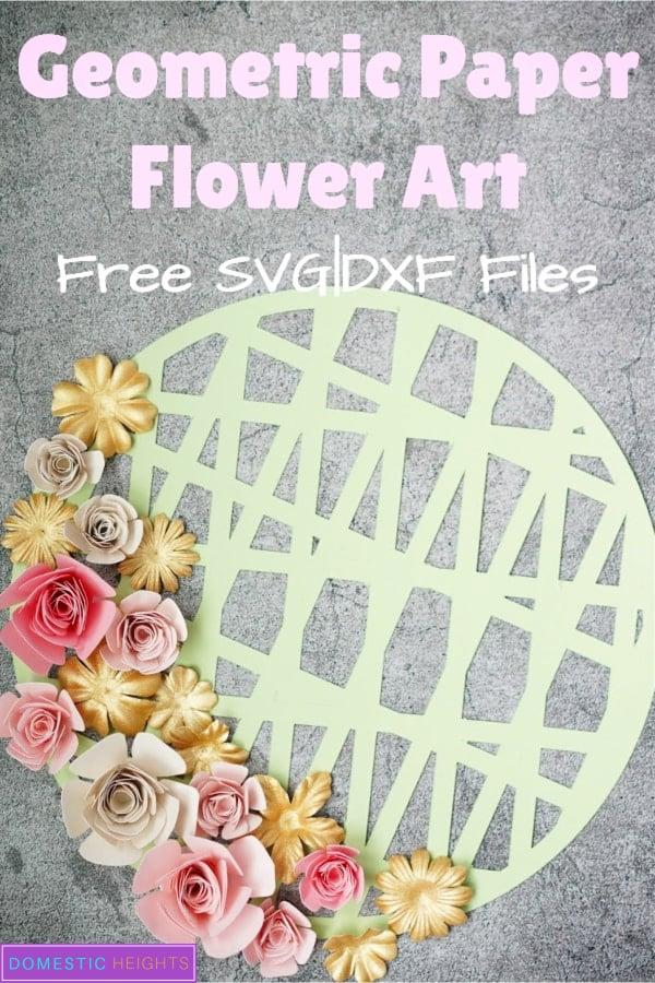 cricut paper flower shadow box