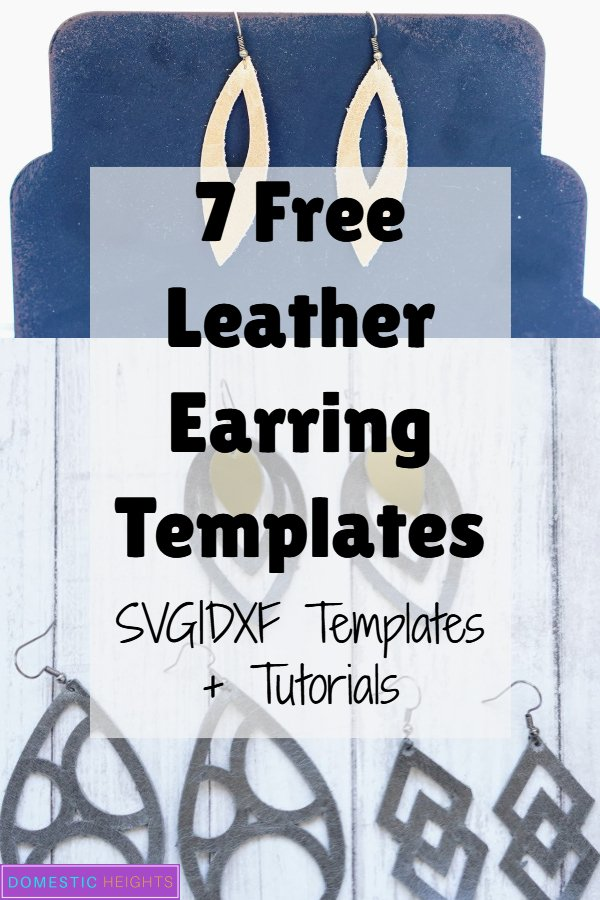 free leather earring svg