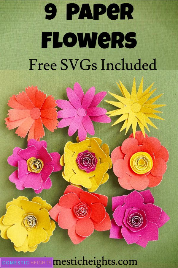 cricut paper flower svg template, project ideas, free svgs, free rolled paper flowers