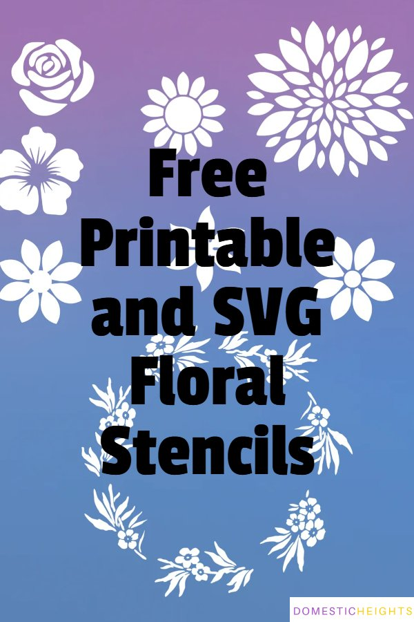 free printable flower stencils to cut out