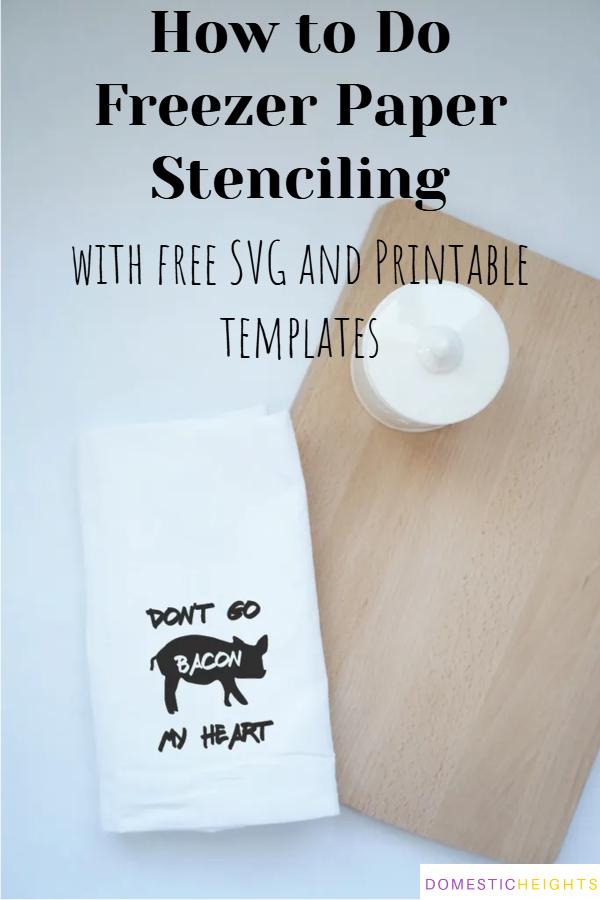 freezer paper stencil cricut, freezer paper stencil on wood, freezer paper stencil on canvas