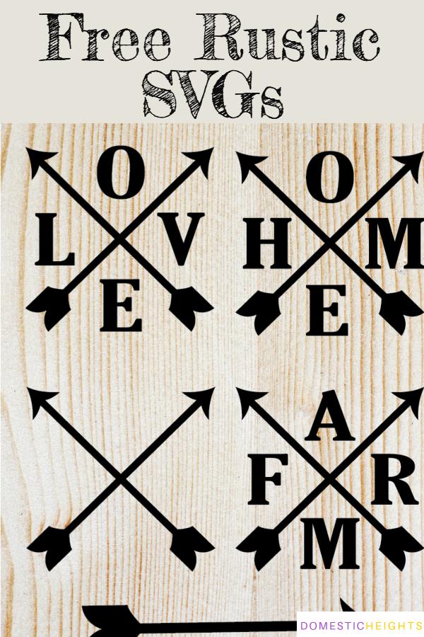 free farmhouse svgs, cricut cut files, rustic sign ideas