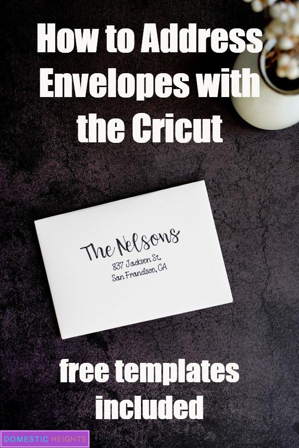 cricut envelope addressing