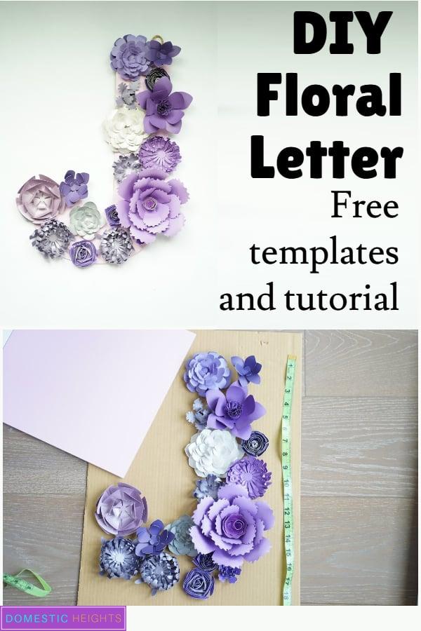 paper flower letter