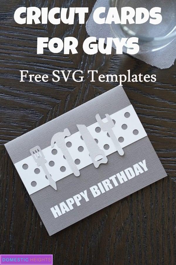 Cricut card SVG for guys