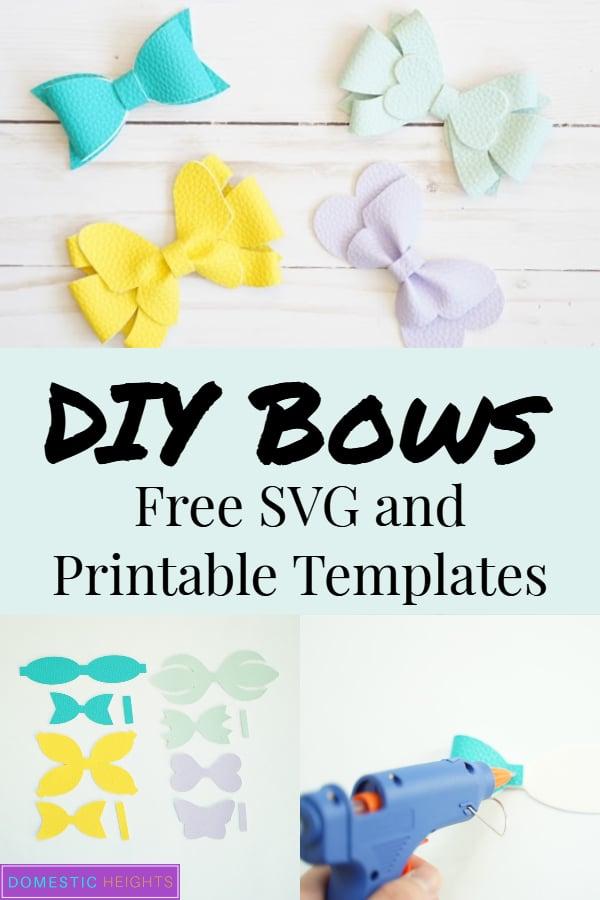 free hair bow templates