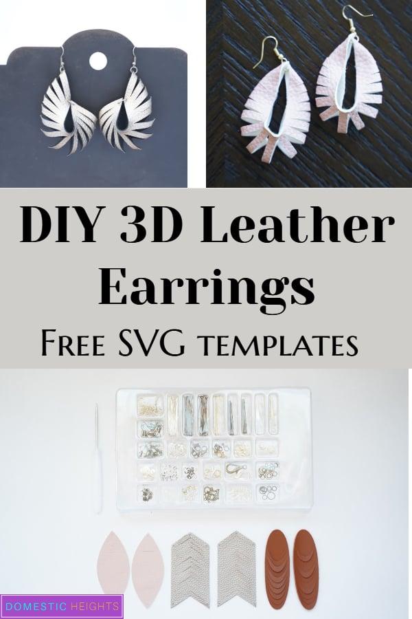 Cricut leather earring templates