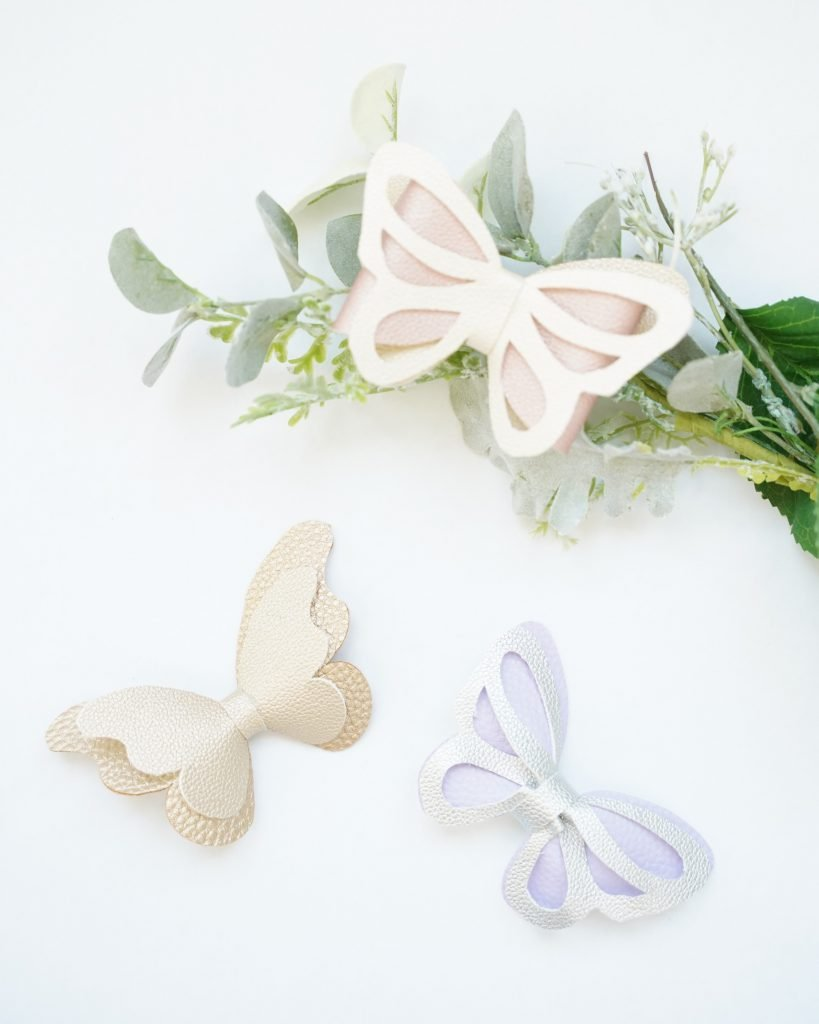 Butterfly Synthetic Leather Tail Ribbon