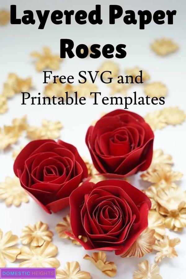 Paper rose flower craft idea